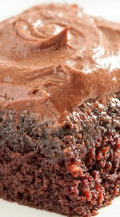 Chocolate Dump-It Cake with Chocolate Cream Cheese Frosting