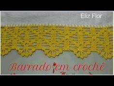 Filet Crochet, Crochet Lace, Crochet Edging Patterns, Maria Jose, Crochet Videos, Crochet For Beginners, Crochet Projects, Diy And Crafts, Rugs