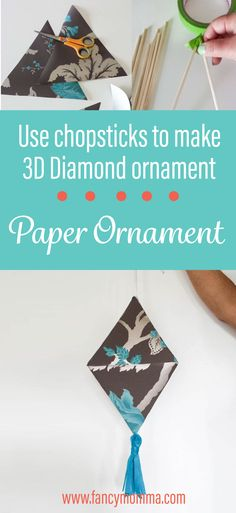 Make a 3d paper ornament for an everyday home decor.