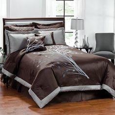 Angela Flocked 8-pc. Comforter Set Kohls