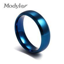 2016 nové módní Stainless Steel Modrá Barva Prsteny pro muže i ženy prst prsten šperky (Čína (pevninská část))