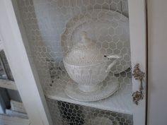 My Shabby Streamside Studio: My Chicken Wire China Cabinet