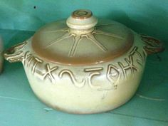 Frankoma Pottery Bean Pot with Lid - $38