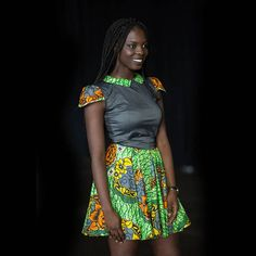 Dress in viscose fabrics and wax. This dress can be made to order to your size. African Wear Styles For Men, African Women, African Fashion, African Style, Contemporary Fashion, African Dress, High Waisted Skirt, Mens Fashion, Couture