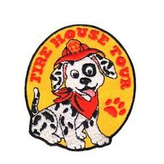 MakingFriends Fire House Tour Fun Patch Take a trip to the fire house with your Girl Scout troop and remember the day with this cute little Dalmatian puppy patch. It will bring a smile to your girl's faces.