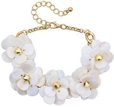 Bijou Brigitte  Armband - White Blossom