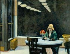 Edward Hopper, Automat, 1927 | Cover of 'Time' on Aug. 28, 1995 - 20th Century Blues | Des Moines Art Center, Iowa