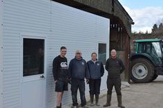 Prefabricated building dairy farm Sussex team