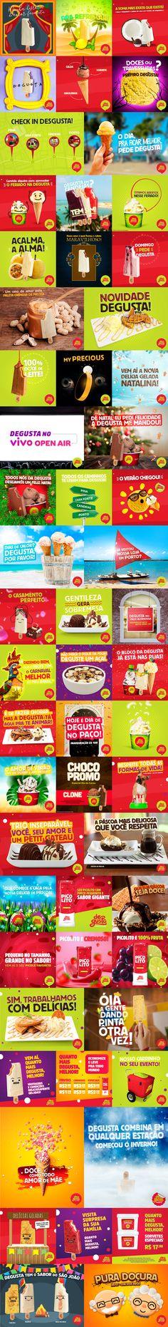 Degusta   Social Media on Behance