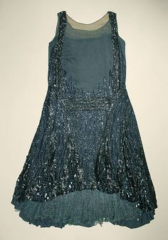 ~Evening dress Date: 1927 Culture: probably British~
