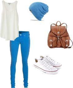 I looooooove this!!! Exspecialy the beanie and the White Converse<3<3<3<3
