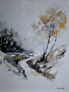 "Saatchi Online Artist: Pol Ledent; Watercolor, 2012, Painting ""watercolor 212152"""