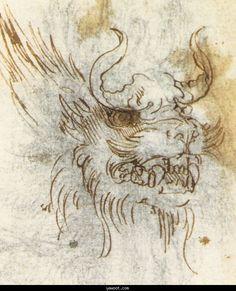 Leonardo Da Vinci.. necromancy of lizards for this one ladies and gentlemen.