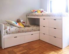 Small Room Design Bedroom, Kids Bedroom Sets, Girl Bedroom Designs, Ikea Bedroom, Kids Bedroom Furniture, Boys Room Decor, Home Room Design, Kids Room Design, Bedroom Decor