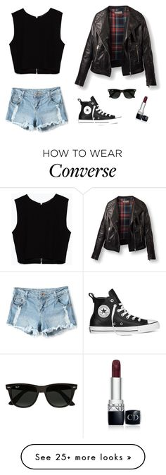 """Bad"" by francyrizzo on Polyvore featuring Zara, Converse, Ray-Ban and Christian Dior"