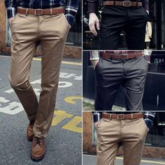 Fashion-Men-Formal-Business-Pants-Slim-Fit-Straight-Jeans-Solid-Slacks-Trousers
