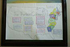 Thirteen Colonies Map