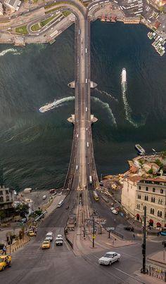 Galata Köprüsü Panoraması