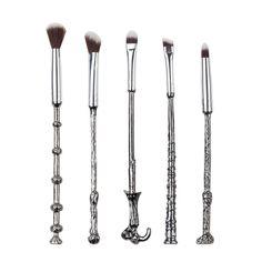 5pcs/Set Professinal Makeup Brushes Magic Wand Brushes Set Soft Cosmetic Foundation Blender  Eyeshadow Witches Brush Tool Kit