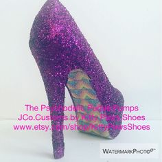 A personal favorite from my Etsy shop https://www.etsy.com/listing/451809392/the-psychodelic-purple-pumps-from