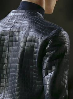 Hermes AW 2013 - Square patterned leather jacket