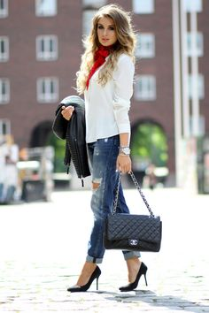 'Mary' red chiffon scarf | gTIE Neckwear & Accessories