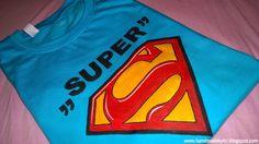 Hand painted t-shirt good idea for a gift :) #handmade #superman