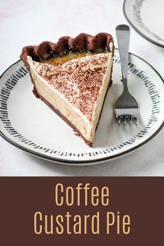 A pie just for the coffee lovers! This Coffee Custard pie has a creamy, smooth coffee filling encased within a decadent chocolate pastry crust. Garnish it with whipped cream and cocoa powder, or serve as is for a bold and delicious pie option. Sweet Desserts, No Bake Desserts, Just Desserts, Delicious Desserts, Dessert Recipes, Yummy Food, French Desserts, Chocolate Pastry, Decadent Chocolate
