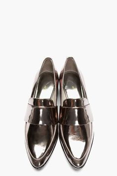 3.1 PHILLIP LIM Gunmetal Patent Leather Quinn Loafers