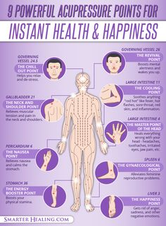 9 Powerful Acupressure Points