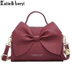 Eleganckie torebki damskie skórzane damskie torby na ramię Crossbody torebki damskie wysokiej jakości torebki damskie Messenger Bow NEW|Torebki na ramię| - AliExpress