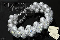 #Bransoletka #koraliki #Swarovski elements zapraszamy do http://www.customjewellery.pl/customjewellery-bransoletka-srebrna-pearl-made-with-swarovski-elements-13427.html  pozdrawiam