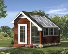This shed floor plan boasts well-lit space for one who not only wants the perfec. - This shed floor plan boasts well-lit space for one who not only wants the perfect greenhouse for th - Shed Floor Plans, Shed Plans, Porch Plans, Building A Shed, Building Plans, Building Design, Build A Greenhouse, Greenhouse Wedding, Greenhouse Ideas