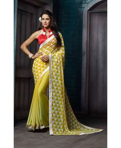 stella designer sarees collection georgette with jacquard