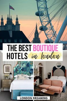 Looking for the best boutique hotels in London? You've just found them! There are so many hotels in London that it can be daunting choosing where to stay. In this guide I've put together all the best boutique hotels in London, be them luxury, unique or just a bit quirky, so you can have a fun and epic stay! #london #londonboutiquehotels #londonwheretostay #londontraveltips Unique Hotels, Luxury Hotels, Best Hotels, Europe Travel Tips, European Travel, Travel Guide, London What To See, Things To Do In London, Boutique Hotels London