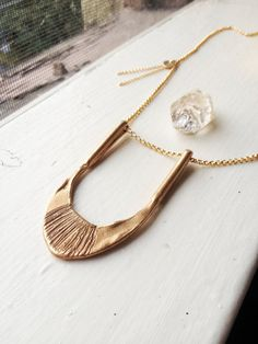 Sunrise necklace_ Lewis  and Clark Collection by NestedYellow