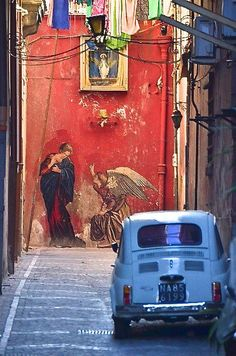 italiacaramia: anastasia-ovcharova: Napoli, Italia Naples, I love you Dead end Rome, Street Art, Street Mural, Urbane Kunst, Amalfi Coast, Graffiti Art, Historical Sites, Urban Art, Italy Travel