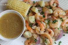 Spiked: Beer & Butter Roasted Shrimp and Potatoes - White Lights on Wednesday