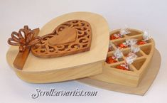 Scroll Saw Patterns :: Boxes :: Other boxes :: Heart chocolate box #2 -