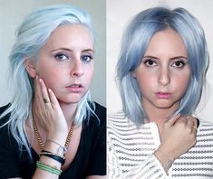 Day-glo hair hues aren't just for celebrities. Click to see one of our editors go from blonde to blue.
