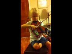Playing violin [Twinkle Variation A]—See more of this young violinist #from_happynewmom