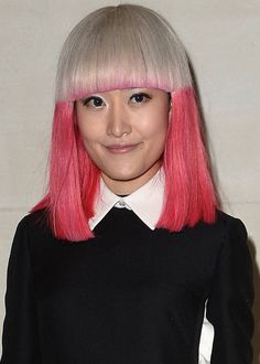 Short Funky Hairstyles - Hued Fringes and Edges