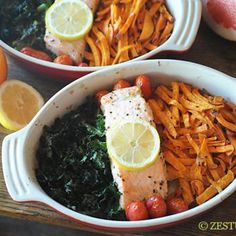 Image for Baked Super Foods: Salmon, Kale & Sweet Potatoes