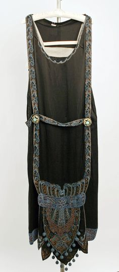 Evening Dress, Callot Soeurs (French, active 1895–1937): ca. 1924-1925, French, silk, beading.