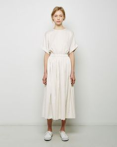 La Garconne - Black Crane Pleated Dress