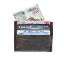Super Slim Leather Credit Card Wallet  Eco by DivinaDenuevo, $55.00