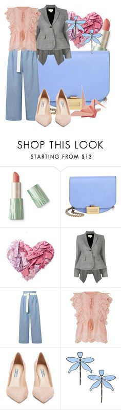 """Pastel Spring"" by baratheon-girl ❤ liked on Polyvore featuring Rossetto, Victoria Beckham, Antonio Berardi, TIBI, Unis, Deby Debo, Prada and Tory Burch"