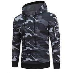 75ac7b7ab6 Camouflage Hoodies Men Sweatshirt Male Zipper Hooded Jacket Casual  Sportswear Moleton Masculino Outwear 2017 male Coat NEW