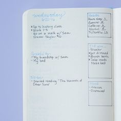 Instead of the monthly layout (or in addition to it), you can also create spaces…