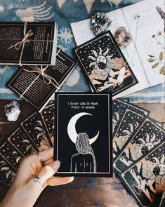 The origins of the Tarot are surrounded with myth and lore. The Tarot has been thought to come from places like India, Egypt, China and Morocco. Others say the Tarot was brought to us fr Affirmation Karten, Affirmation Cards, What Is Affirmation, Dibujos Zentangle Art, Stampin Up Karten, Save The Date Karten, Witch Aesthetic, Aesthetic Yellow, Aesthetic Fashion